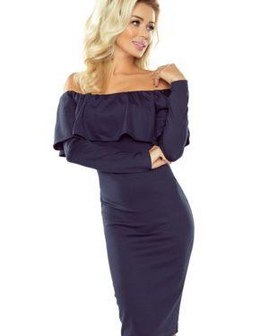 Dámské šaty 156-1 NUMOCO tmavě modré