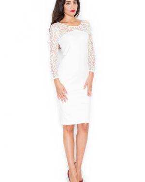Dámské šaty KATRUS K322 krémově bílé