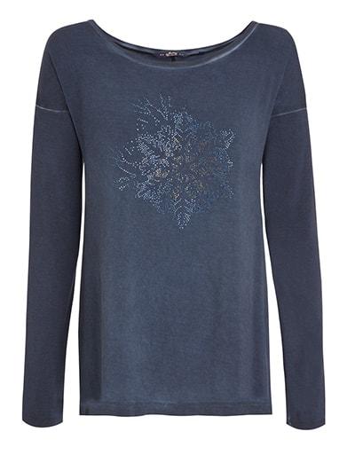 Dámské tričko s dlouhým rukávem 856050 JOCKEY tmavě modré