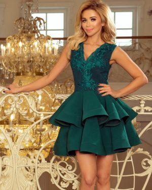 Luxusní dámské šaty 200-6 NUMOCO zelené