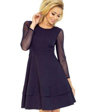 Dámské šaty NUMOCO 141-1 tmavě modré