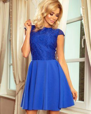 Dámské šaty 157-5 NUMOCO modré