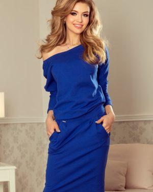 Dámské šaty 189-2 NUMOCO modré