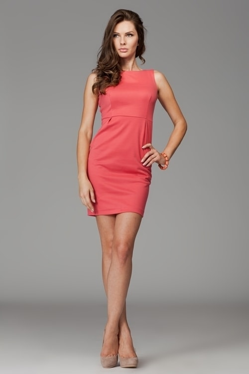 Elegantní dámské šaty FIGL M079 coral