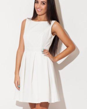 Dámské šaty KATRUS K128 krémově bílé