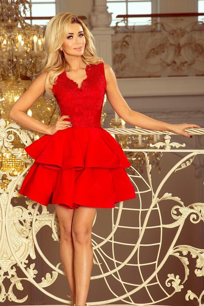 Dámské šaty 200-4 NUMOCO červené
