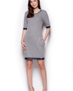 Dámské šaty FIGL M348 tmavě šedé