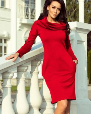 Dámské šaty 131-9 NUMOCO červené