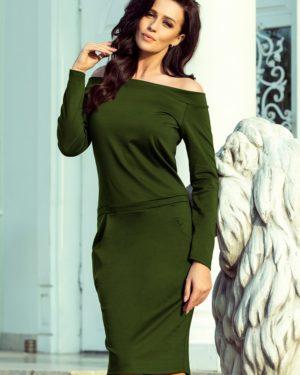 Dámské šaty 225-1 NUMOCO zelené