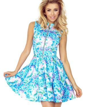 Dámské šaty 123-13 NUMOCO světle modré