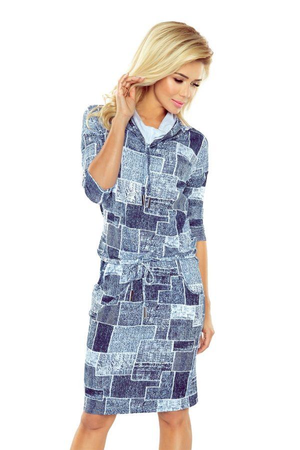 Dámské šaty 44-17 NUMOCO modré