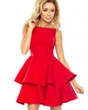 Dámské šaty 169-1 NUMOCO červené