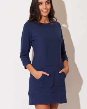 Dámské šaty KATRUS K144 tmavě modré