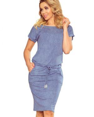 Dámské šaty 139-6 Numoco modré