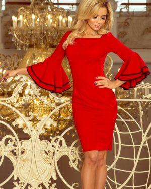 Dámské šaty 188-1 NUMOCO červené