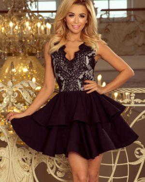 Luxusní dámské šaty 200-3 NUMOCO černé