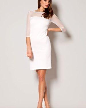 Dámské šaty FIGL M237 krémově bílé