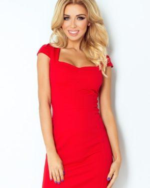 Dámské šaty 118-2 NUMOCO červené