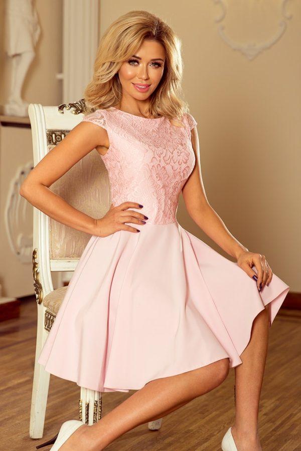 Dámské šaty 157-4 NUMOCO růžové