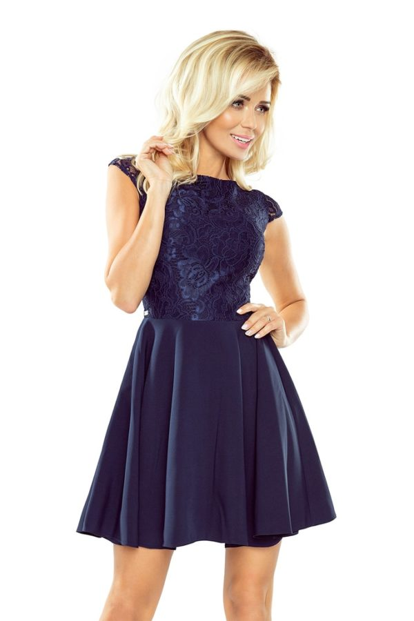 Dámské šaty 157-1 NUMOCO tmavě modré