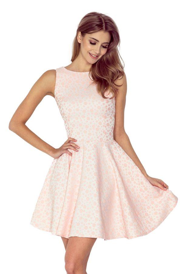 Dámské šaty 125-14 NUMOCO světle růžové