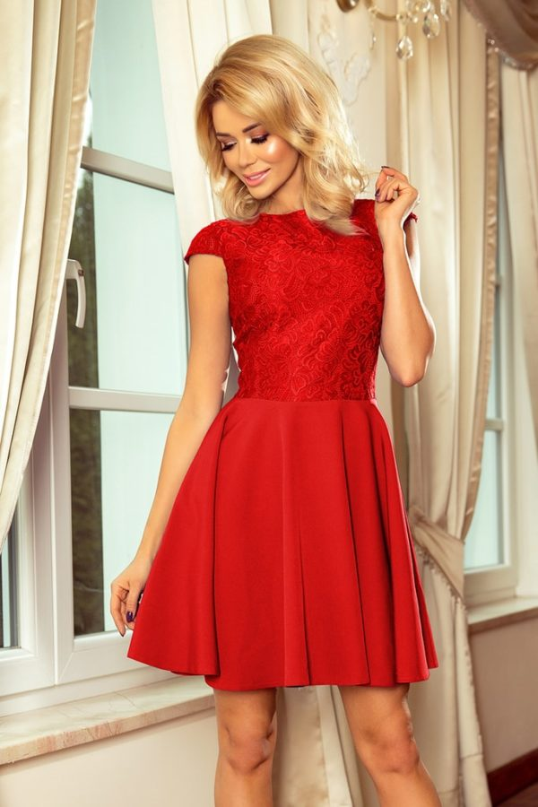 Dámské šaty 157-8 NUMOCO červené