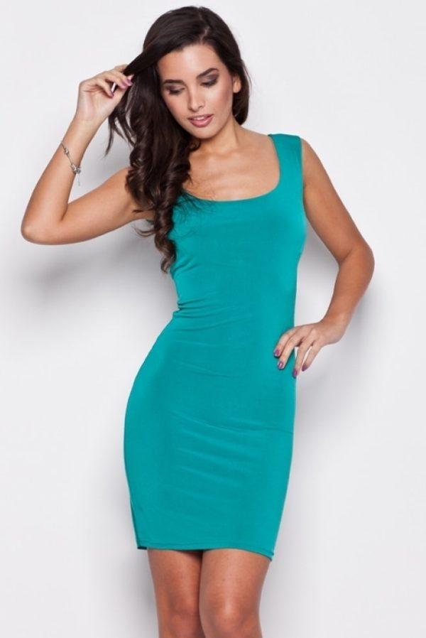 Dámské šaty KATRUS0 K081 zelené