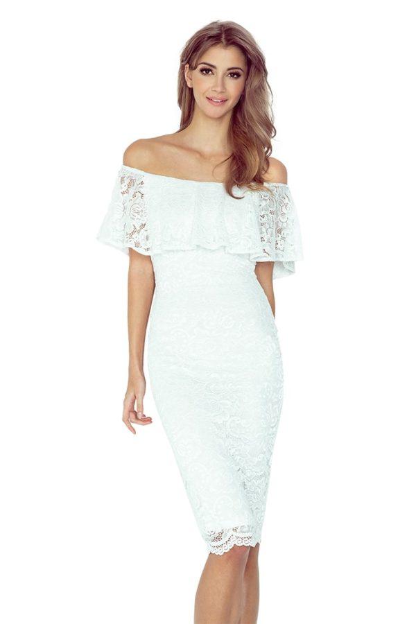 Dámské šaty 013-1 MORIMIA bílé