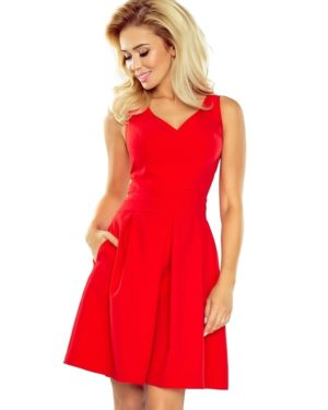 Dámské šaty 160-3 NUMOCO červené