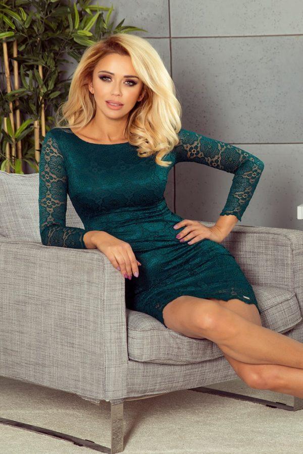 Dámské šaty 180-2 NUMOCO zelené
