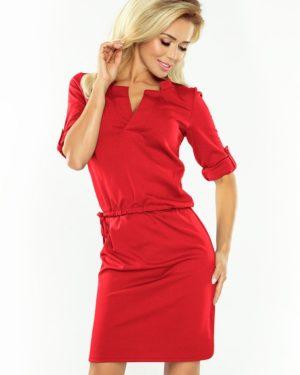 Dámské šaty 161-11 NUMOCO červené