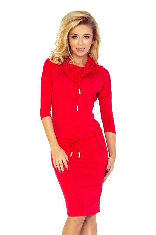 Dámské šaty 44-13 NUMOCO červené
