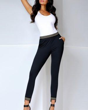 Dámské kalhoty Marisa gold Bas Bleu