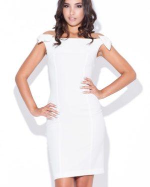 Dámské šaty KATRUS K028 krémově bílé
