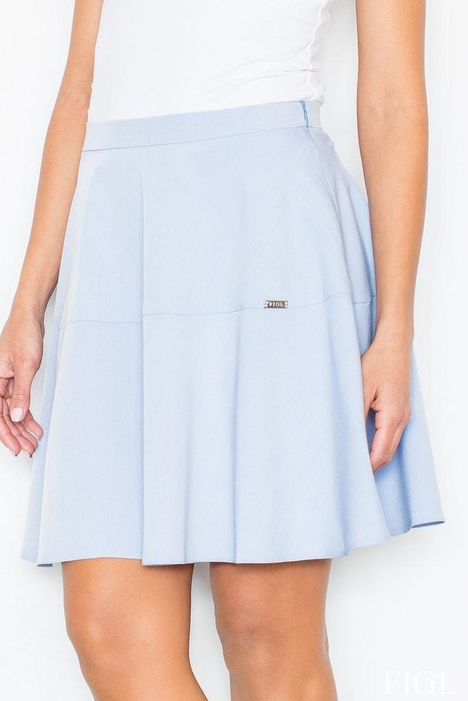 Dámská sukně FIGL M285 světle modrá