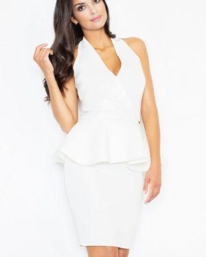 Dámské šaty FIGL M368 krémově bílé