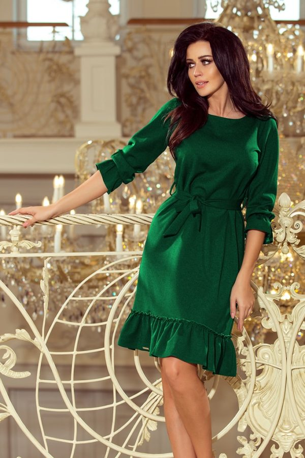 Dámské šaty 193-8 NUMOCO zelené